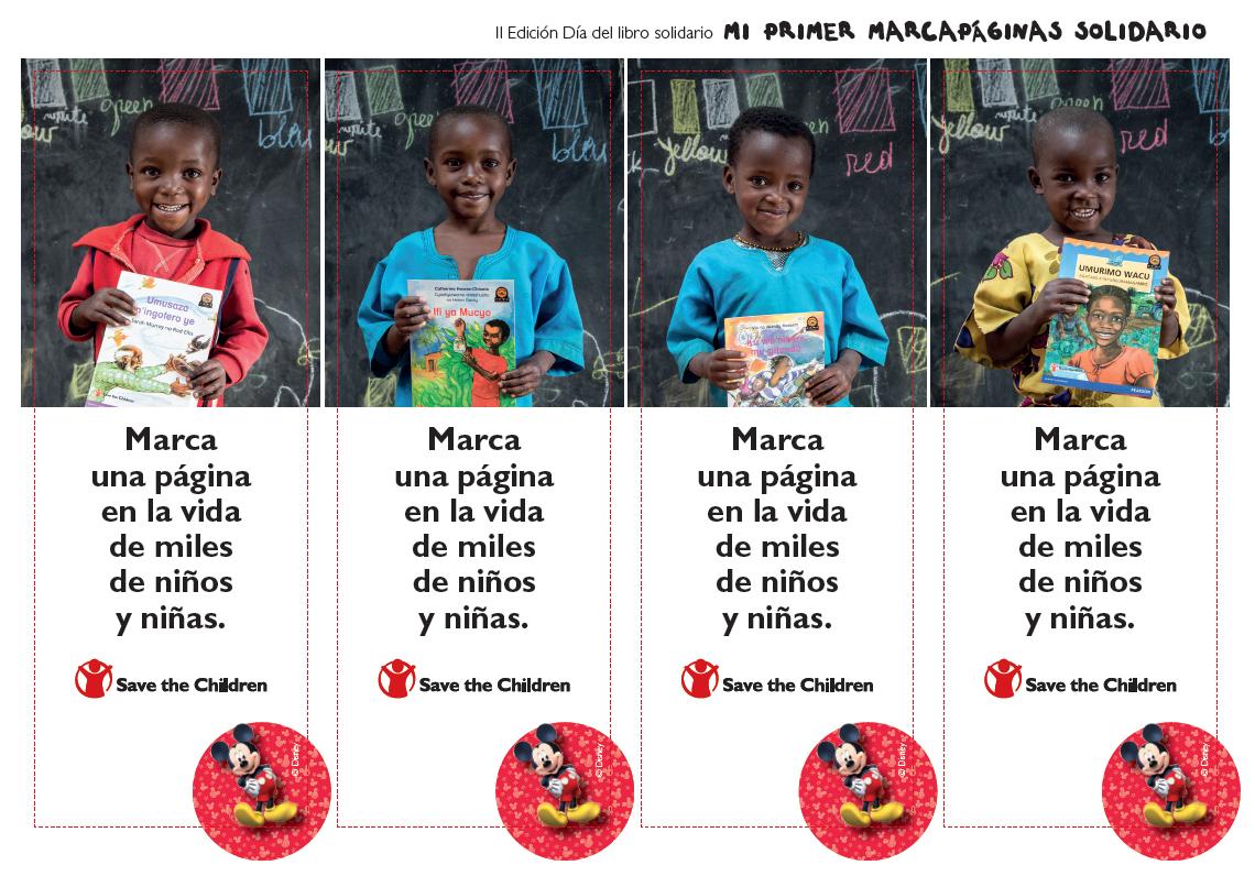 Resultado de imagen de imagenes marcapaginas save the children