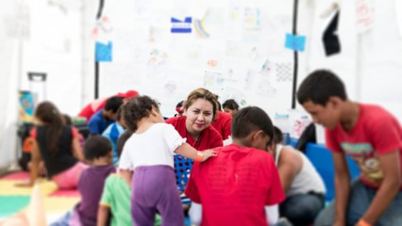 trabajo save the children caravana migrante