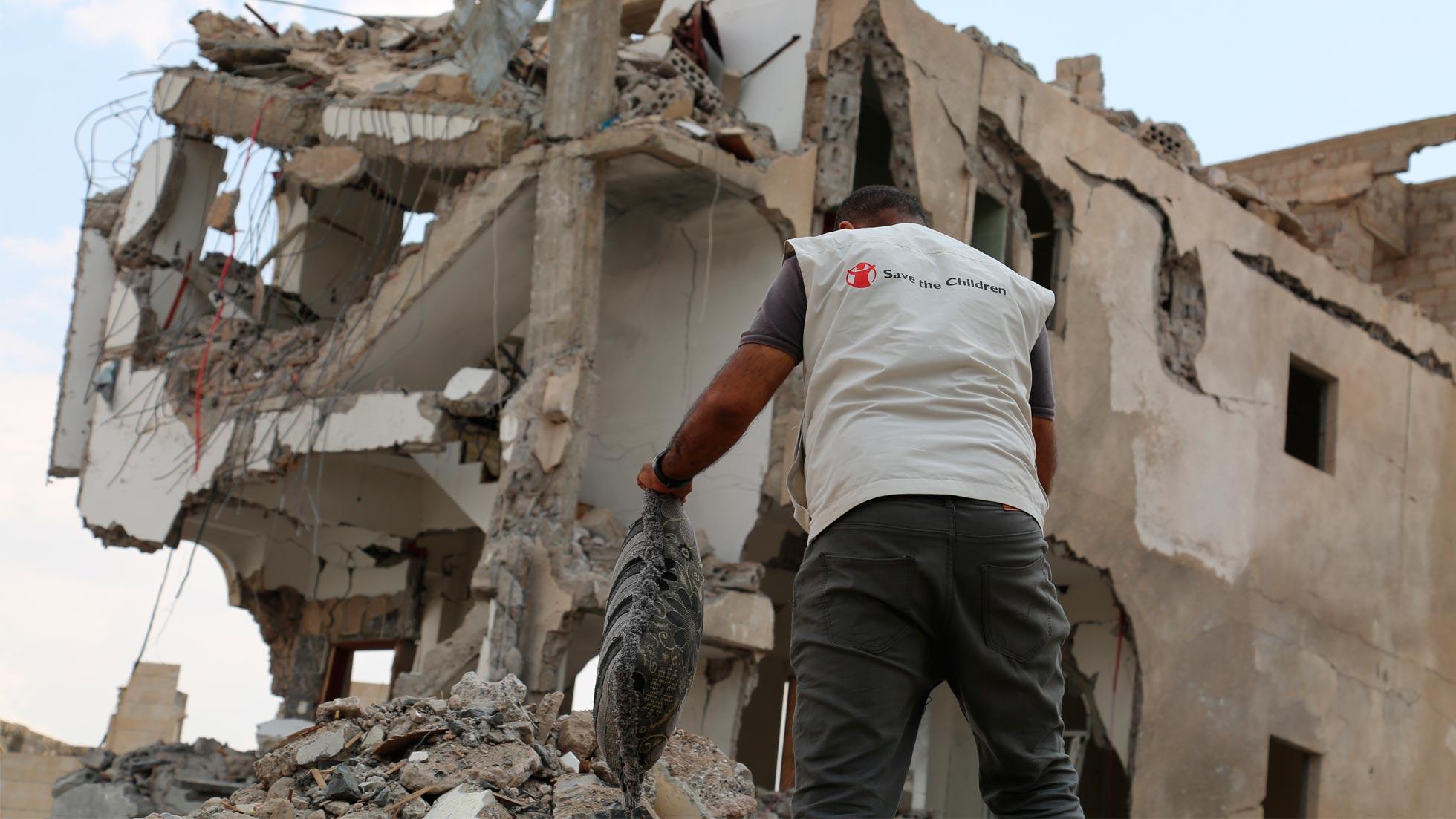 Yemen destruida por un ataque áreo